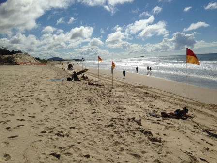 Life Savers on duty at Maroochy Beach Photo Credit: Debbie Smith